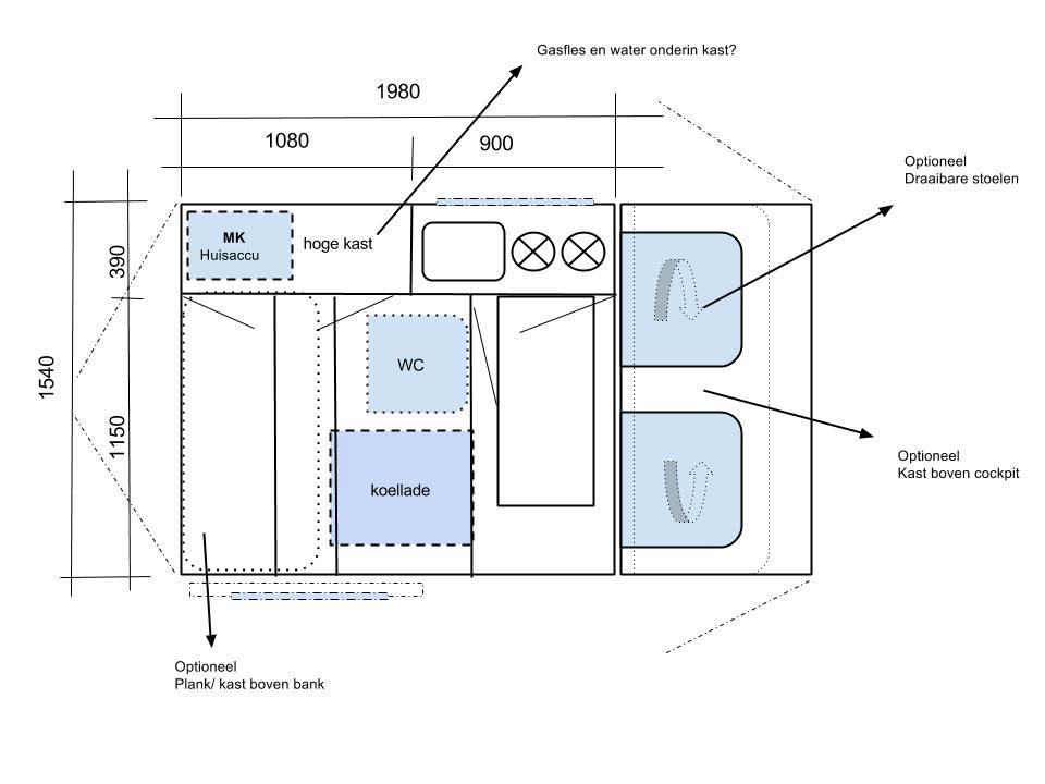 minicamper-plattegrond